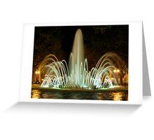 Fountain at night Greeting Card