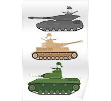 Battle Tanks Poster