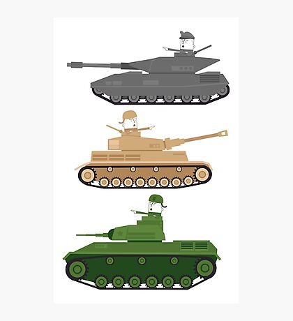 Battle Tanks Photographic Print