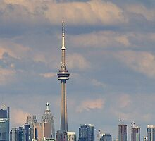 The CN Tower, Toronto, Canada. by Larry Llewellyn