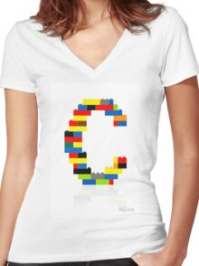 """""""C"""" Women's Fitted V-Neck T-Shirt"""