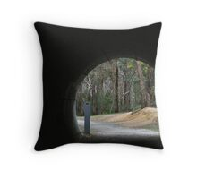 tunnel - warburton trail melbourne Throw Pillow