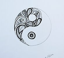 Patterned Yin Yang by platinumblondie