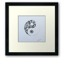 Patterned Yin Yang Framed Print