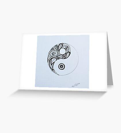 Patterned Yin Yang Greeting Card