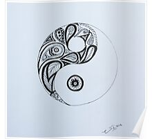Patterned Yin Yang Poster