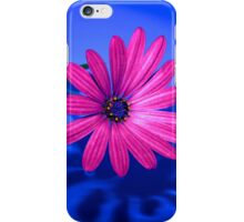 Flower On Blue #2 iPhone Case/Skin