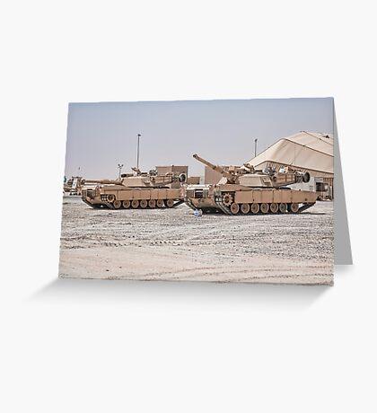 M1 Battle Tank Greeting Card