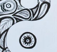 Patterned Yin Yang Sticker