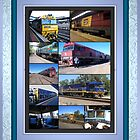 Diesel Loco Collage by glennmp
