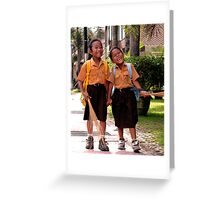 Ubud Schoolgirls, Bali Greeting Card
