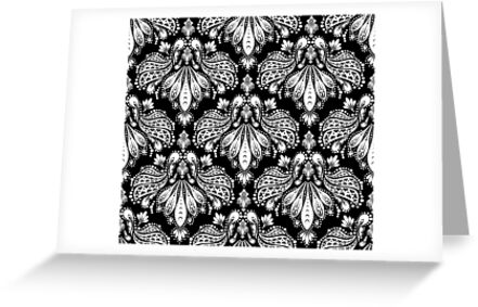 Decorative seamless floral ornament by Olga Altunina