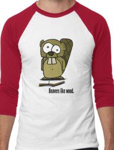 Beavers like wood. Men's Baseball ¾ T-Shirt