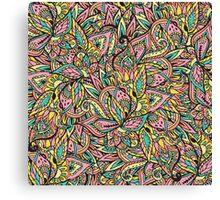 Modern boho botanical floral paisley pattern  Canvas Print