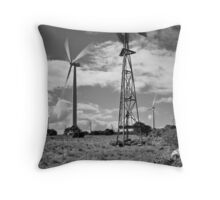 The Old & the New - Monochrome Throw Pillow
