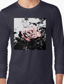 Retro Rose Pink Long Sleeve T-Shirt