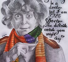 Tom Baker as the Doctor by platinumblondie