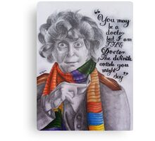 Tom Baker as the Doctor Canvas Print