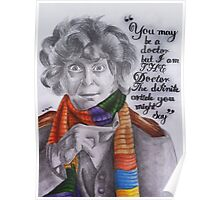 Tom Baker as the Doctor Poster