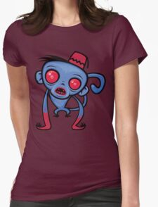 Zombie Monkey Womens Fitted T-Shirt