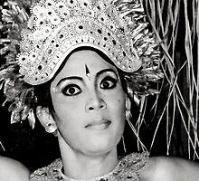 Balinese Dancer (bw) by Werner Padarin