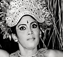 Balinese Dancer (bw) by Werner Padarin