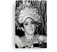 Balinese Dancer (bw) Canvas Print