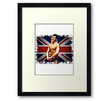 Tom Daley and Union Jack Framed Print