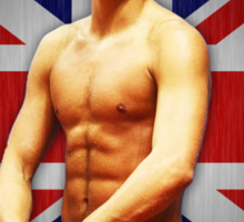 Tom Daley and Union Jack Sticker