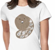 Paisley Beaver Womens Fitted T-Shirt