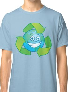 Planet Earth Recycle Cartoon Character Classic T-Shirt
