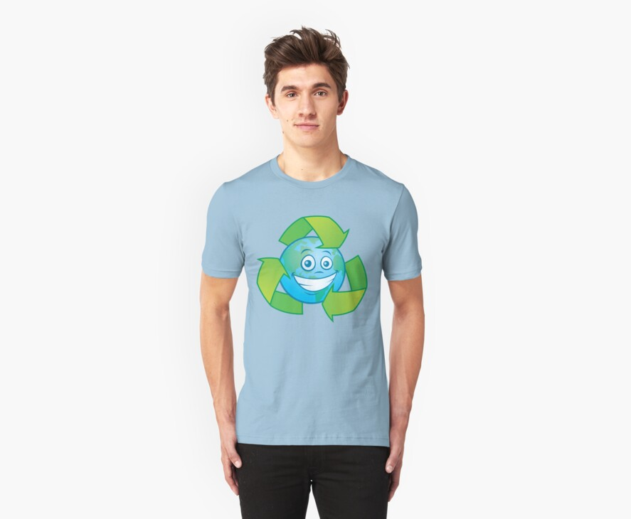 Planet Earth Recycle Cartoon Character by fizzgig