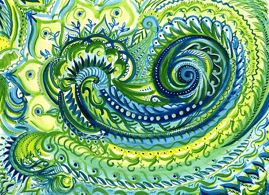 Paisley Watercolor by SBCStudio