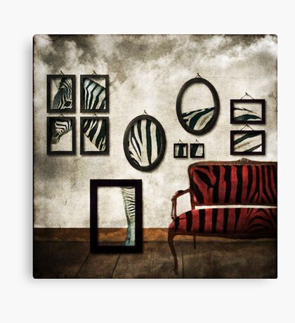 It's never just black or white Canvas Print