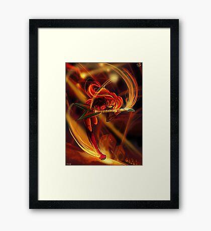 Sunset Eruption Framed Print