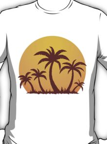 Palm Trees and Sun T-Shirt