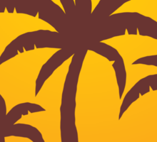 Palm Trees and Sun Sticker