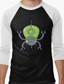 Brainbot Robot with Brain Men's Baseball ¾ T-Shirt