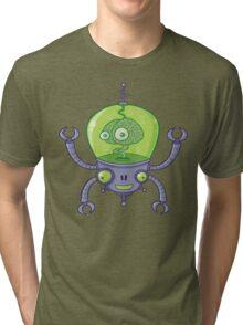 Brainbot Robot with Brain Tri-blend T-Shirt