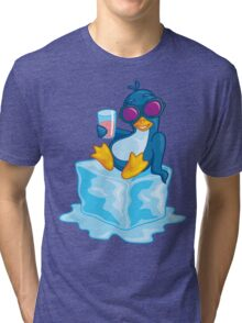 Penguin On Ice Tri-blend T-Shirt