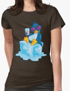 Penguin On Ice Womens Fitted T-Shirt