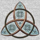 Trinity Knot with blue inlay by Packrat