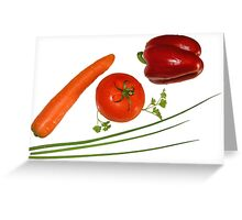 red vegetables Greeting Card