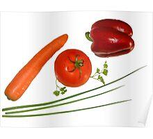 red vegetables Poster