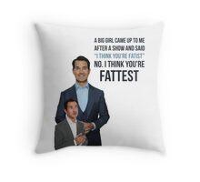Jimmy Carr - Fatist Joke Throw Pillow