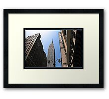 IN THE SHADOW OF GIANTS BRUSHSTROKES Framed Print