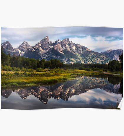 Grand Tetons Reflections Poster