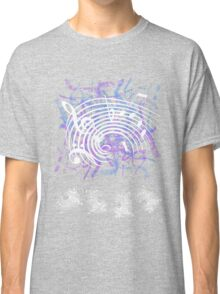 White Music Notes Classic T-Shirt