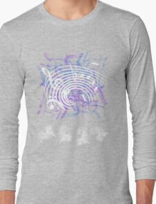White Music Notes Long Sleeve T-Shirt