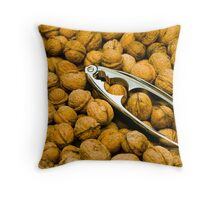 Walnuts and Nut Cracker Throw Pillow